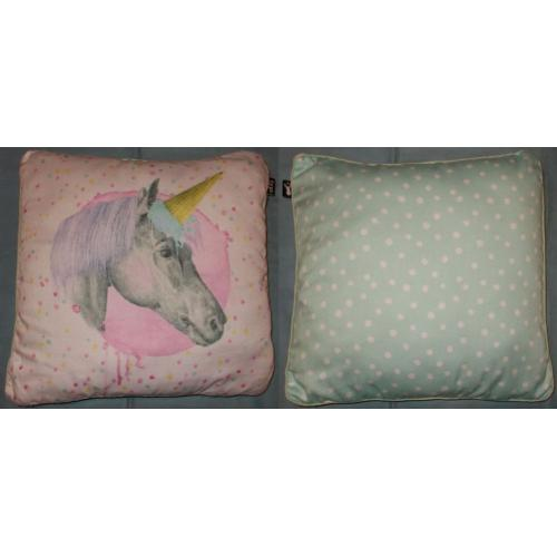 Typo UNICORN CUSHION / Pillow - approx 43cm x 40cm