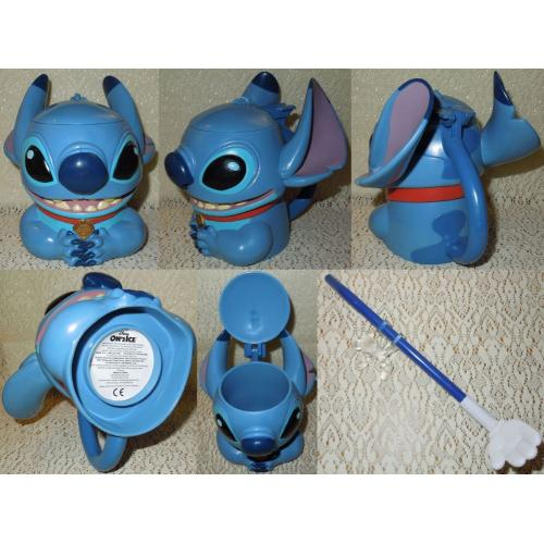 Disney On Ice STITCH from Lilo and Stitch CUP / MUG with Handle and Hinged Lid and Mickey Mouse Spoon